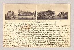 Schweiz Ganzsache 14.4.1891 Paradiso-Fontana Rückseitig 4 Abbildungen Villa Und Hotel - Ganzsachen