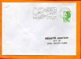 CREUSE, Crozant, Flamme SCOTEM N° 10064, Village Touristique En Creuse - Sellados Mecánicos (Publicitario)