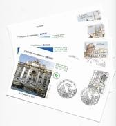 Enveloppes  1er Jour FDC .2002 4 Enveloppes Capitales Européenne ROME - FDC