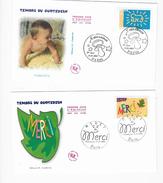 """Enveloppes  1er Jour FDC .2002 2 Enveloppes """"timbre Du Quotidien"""" - FDC"""