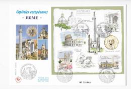 "Enveloppes  1er Jour FDC .2002  1 .  Enveloppe ""Capitale Européenne Rome - FDC"