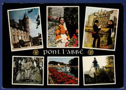 29 PONT L'ABBE Château, Bigoudenne, Sonneurs, Monument Aux Morts, Port, église N.D. Des Carmes 6 Vues - Animée, - Pont L'Abbe