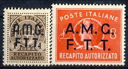 Trieste Zona A Recapito A. 1947 Serie N. 1-2 MNH Cat. € 18 - 7. Triest