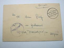1944 , AUGSBURG (Hds. Absender) , Klarer Stempel Auf Feldpostbeleg Mit Truppensiegel