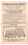 MODE , Feuillet Gde Manufacture De Broderies Suisses BERNE / LUCERNE,Suisse,Linge Robe Laize  8 Pages ,fin XIX E TB RARE - Littérature