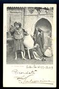 38 Porteur D'eau. / Ephtimios Freres / Year 1903 / Circulated Postcard, 2 Scans - Egypt