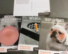 3 Cartes Postales : Ma Ville Plus Propre (chewing Gums-mégots-crottes De Chiens ...) Toulouse - Cartes Postales
