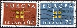 ICELAND #  FROM 1963 STAMPWORLD 374-75 - 1944-... Republik