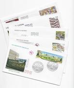 Enveloppes  1er Jour FDC .2001  5 Enveloppes  Thème Differents - FDC