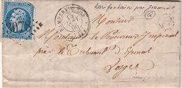 LETTRE.  15 JANV 66.  VOSGES RAMBERVILLERS.   BOITE RURALE :  Q   LARIFONTAINE-BRU   /  47 - Marcophilie (Lettres)