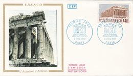 UNESCO COVER FDC - CACHET ROND PREMIER JOUR PARIS 5 DEC 1987 - L'ACROPOLE D'ATHENES
