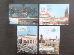 DDR, Germany, 1987, 4 Maximum Cards MC MK, 750 Jahre Berlin, Sonderstempel, Commemorative Postmark