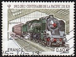 Oblitération Cachet à Date Sur Timbre De France N° 4655 ** Transport, Train, Locomotive Pacific 231K8 - France
