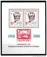 TCHECOSLOVAQUIE   BF 81  * * ( Cote 7.50e ) Timbre Sur Timbre Mucha Dessinateur - Postzegels Op Postzegels