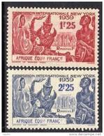 A. E. F.  N° 70 / 71 X  Exposition Internationale De New York, Les 2 Valeurs Trace De Charnière Sinon TB