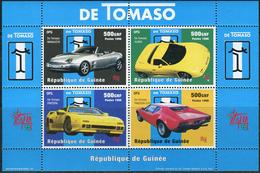 Guinee 1998. Michel Bl.#554 MNH/Luxe. 40 Jahre Italienischer Automobilhersteller De Tomaso. (Ts43) - República De Guinea (1958-...)