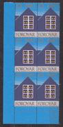 Faroe Islands 1980 Christmas Seals 1v 6x ** Mnh (34761) - Faeroër