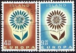 ICELAND #  FROM 1964 STAMPWORLD 386-87 - 1944-... Republik
