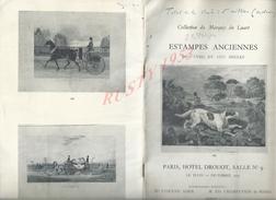 CATALOGUE DE VENTE COLLECTION DU MARQUIS DU LUART PARIS HOTEL DROUOT : - Livres, BD, Revues