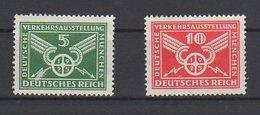 Deutsches Reich / Deutsche Verkehrs-Ausstellung / Michel 370, 371 - Unused Stamps