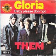 "THEM- ""Gloria/Baby Please Don't Go""-45 T -Decca-BE - Rock"