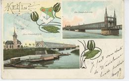 ALLEMAGNE - KEHL - Neue Eisenbahnbrücke & Alte Eisenbahnbrücke (1904) - Kehl