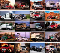 40 Postcards Of   Truck Cars, Postkarte Carte Postale - Camions & Poids Lourds