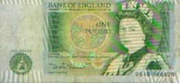 ROYAUME UNI - Bank Of England - 1 Pound - Verso : Isaac Newton - 1 Pound