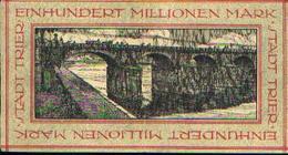 ALLEMAGNE  - Billet De Nécessité - STADT TRIER 1923 - 100.000.000 Mark - [11] Emissioni Locali
