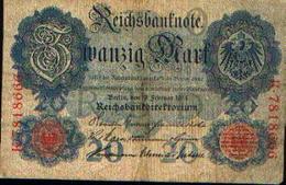 ALLEMAGNE  - Reichbanknote - 20 Mark - 19.02.1914 - [ 2] 1871-1918 : German Empire