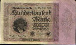 ALLEMAGNE  - Reichbanknote - 100000 Mark - 01.02.1923 - [ 3] 1918-1933 : Weimar Republic