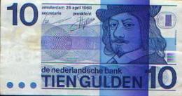 PAYS-BAS – 10 Gulden 1968 - [2] 1815-… : Royaume Des Pays-Bas