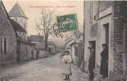 21 - COTES D'OR / Villers La Faye - Rue De L'église - Beau Cliché Animé - Altri Comuni