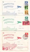 """Schweiz Lot Von 3 Ganzsachen 10, 20, 30Rp """"Philatelisten Kongress"""" Bern 22.6.1929 - Suisse"""