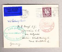Irland 20.10.1932 Luftpost Brief Nach Berlin-Charlottenburg Roter AK-Stempel - Poste Aérienne