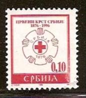 029. Yugoslavia (Serbia), 1996, 120 Years Of Red Cross In Serbia, Surcharge, MNH (**) - 1992-2003 Federal Republic Of Yugoslavia