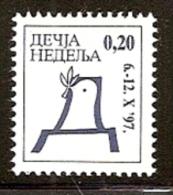 036. Yugoslavia (Serbia), 1997, Children´s Week, Surcharge, MNH (**) - 1992-2003 Federal Republic Of Yugoslavia