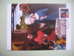 Carte Maximum  La Nativité   Le Maître Des Moulins - Kunst