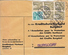 Brief An Den Kreditschutz-Verband / Protection Des Crédits Berthoud Oblitération Vevey 1937 - Covers & Documents
