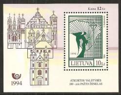 Lituania 1994 Nuovo** - Mi. Bloc 4 - Lituania