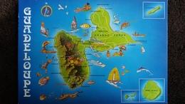 CPM DEPARTEMENT DE LA GUADELOUPE  CARTE GEOGRAPHIQUE PLAN - Maps