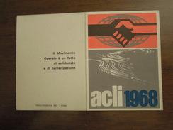 Tessera -  ACLI  1968  ROMA - Documenti Storici