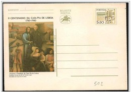 Portogallo/Portugal: Intero, Stationery, Entier, Telaio Tessile, Profilent, Loom, Casa Pia Di Lisbona - Tessili