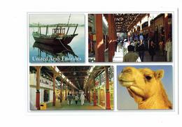 Cpm - DUBAI - United Arab Emirates - N°275 - Awni - Multivues - Bateau Chameau Magasins - Dubai