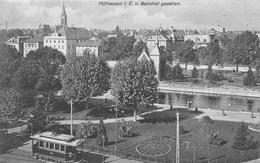 CPA 68  MULHOUSE MULHAUSEN BAHNHOF GESEHEN - Mulhouse