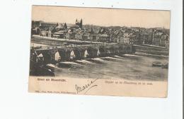 GROET UIT MAASTRICHT 2534  GEZICHT OP DE MAASBRUG EN DE STAD. - Maastricht