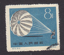 PRC, Scott #468, Used, Parachuting, Issued 1959 - Gebruikt