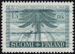 FINLAND - Scott #282 International Forest Congress, Picea Abies / Used Stamp - Finland