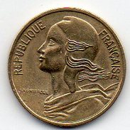France - Curiosité 5 Centimes 1981 Marianne - 2ème F De Lagriffoul Absent - Variétés Et Curiosités