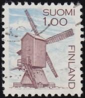 FINLAND - Scott #630 Windmill, Harrstrom / Used Stamp - Mühlen